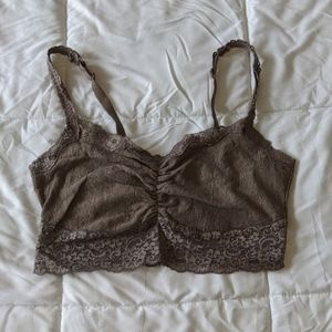 Soma Taupe Lace Bralette with Adjustable Straps